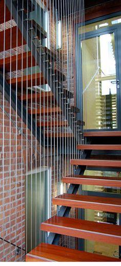 love the multi-level cable railing