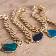 Jet Agate Chunky Necklace