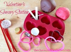 Valentine's Sensory Station. Pinned by The Sensory Spectrum pinterest.com/sensoryspectrum
