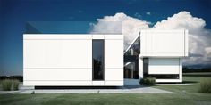 The White House by STARH Stanislavov architects as Architects Luxury Homes Exterior, Luxury Modern Homes, Exterior Design, Modern Architecture House, Amazing Architecture, Interior Architecture, Minimalist Architecture, Modern Windows And Doors, Archi Design