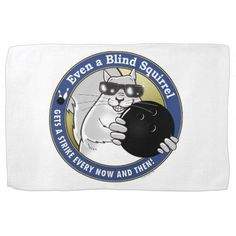 Blind Squirrel Bowling Kitchen Towel