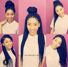 How to style your box braids; Ideas.                                                                                                                                                      More