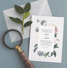 Floral, Botanical Invitation card
