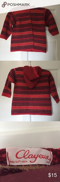 French clayeaux cardigan Girls French clayeaux cardigan. Clayeaux Shirts & Tops Sweaters