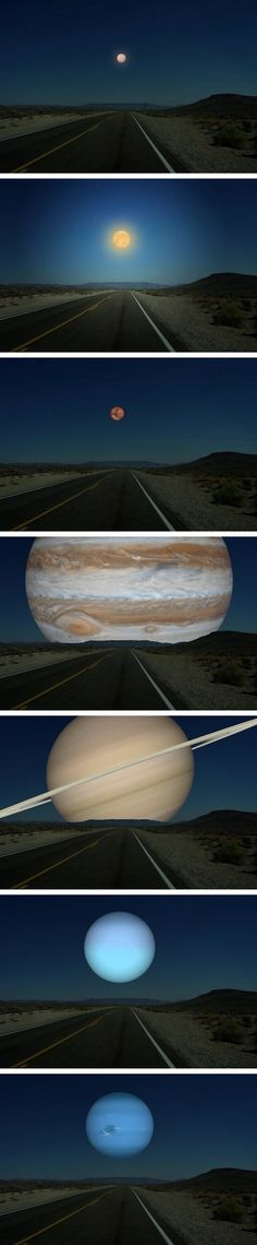 If the planets were the same distance from the Earth as the Moon....