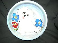Water Bowl 8 Dog Bowl for Food or Water Personalized at no Charge Signed by Artist Debby Carman *** Click image to review more details.(This is an Amazon affiliate link and I receive a commission for the sales)