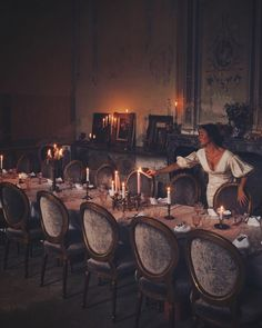 Dinner at eight in the Salon de Printemps 🕯 🕯 {dress by Chateau De Gudanes, Ann Street Studio, A Discovery Of Witches, Modern Muse, French Cottage, Country Chic, Fairy Tales, Travel Photography, Castle