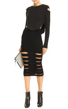 Cut-Out Rib-Kit Skirt by Cushnie et Ochs - Moda Operandi