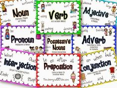 Parts of Speech Posters-Perfect for Grammar Centers/Area folders