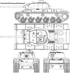 KV-85 blueprint