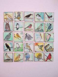 Twenty-five itty bitty birdy Inchies