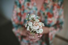 Less is always more when it comes to posies.