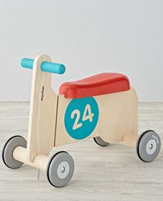 Start the bike-riding experience with this bike ride-on! For super beginner bike riders, this helps children to first ride without pedals making it an easy transition to when they do have bikes with pedals.