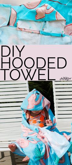 Sewing For Kids, Baby Sewing, Diy For Kids, Sewing Tutorials, Sewing Projects, Hooded Towel Tutorial, Burp Cloth Patterns, Hood Pattern, Free Pattern Download