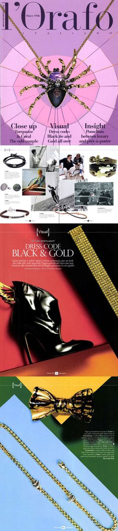❖Visto su #L'ORAFO–Luglio 2015❖ Tennis ,#Color e #Giallo121 Collection  |  #tennis #bracelets #trendy #jewelry #fashion #gold #valenza #crieri #vestiamodiamanti #tennispassion #tennisclub #glamour #chic #lifestyle