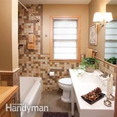 Make your small bathroom feel big. We have a few ideas that will give you more space without knocking out walls.