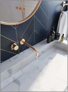 Bathroom decor for your bathroom remodel. Discover master bathroom organization, bathroom decor a few ideas, master bathroom tile ideas, master bathroom paint colors, and more. Bathroom Inspo, Bathroom Inspiration, Modern Bathroom, Small Bathroom, Master Bathrooms, Bathroom Ideas, Dream Bathrooms, Bathroom Designs, Copper Bathroom