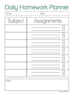 Student Planner Printables - Scattered Squirrel