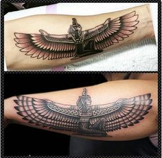 Egyptian Goddess Isis tattoo