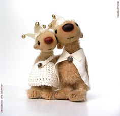 #royal #couple 3 and 4 inches miniature #bears