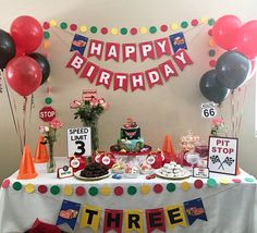 Disney Cars Theme Pit Stop Sign Birthday Party Decorations Diy Car