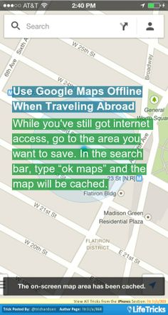 iPhones - Use Google Maps Offline When Traveling Abroad  #Tricks  - www.justiphone.fr