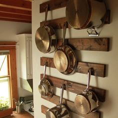 Rustic pan holder