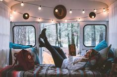 Cute DIY bus build for anyone wanting to head out on an adventure! This would make the perfect road trip companion! #vanlife