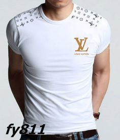 Louis Vuitton Mens Short T-Shirts White Tights $52.99 www.gomalllv.com