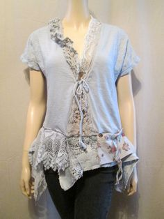 RESERVED for GP Lagenlook Blouse Cotton by bluemermaiddesigns