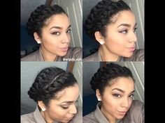 Quick & Easy Protective Style | Flat Twists | Natural Hair - YouTube
