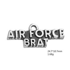 Find More Charms Information about Teamer 20pcs/lot Zinc Alloy Metal Letter Air Force Brat Charms for DIY Punk style Bracelest/Necklace accessories wholesale,High Quality charms wholesale,China wholesale charms Suppliers, Cheap metal letters from Teamer Official Store on Aliexpress.com Diy Jewelry Charms, Letter Pendants, Metal Letters, Official Store, Punk Fashion, Silver Color, Antique Silver, Air Force, Charmed
