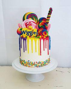 Boys First Birthday Cake, Dinosaur Birthday Cakes, Birthday Themes For Boys, Third Birthday, Birthday Party Themes, Wiggles Cake, Wiggles Party, Wiggles Birthday, Emma Wiggle
