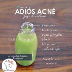 no tienes porque tener acne, con este sencillo jugo reduce la grasa de tu rostro y elimina esos molestos barros que interfieren con tu belleza!