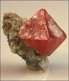 Red Fluorite octahedron
