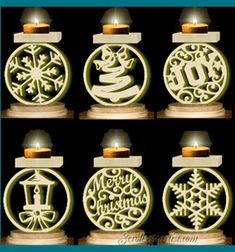 Scroll Saw Patterns :: Lighted projects :: Candle holders & Luminaries :: Assorted votive candle or tealight stands -