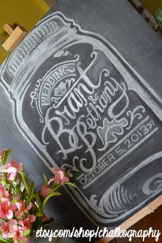 Custom Mason Jar Chalk Sign | Personalized Chalkboard
