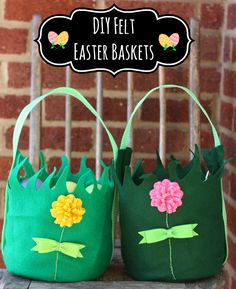 DIY felt easter baskets -- how cute are these??