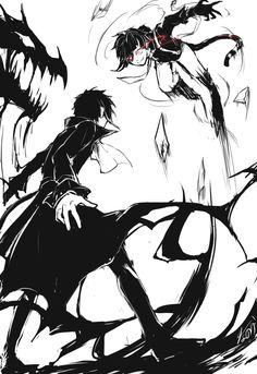 Akutagawa ( ̄▽+ ̄*) and Atsushi <3