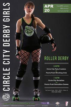 CCDG 2013 roller derby   poster #1