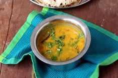 Gujarati dal - a hearty dal with spicy, tangy and sweet flavors.