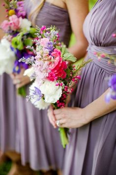 Image result for slate grey bridesmaids with wildflower bouquet
