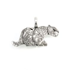 Sterling Silver Mountain Lion Pendant on Etsy