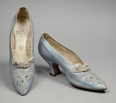 Blue & Silver Shoes from 1912 (The Los Angeles County Museum of Art)