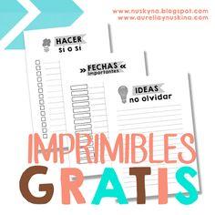 Imprimibles organización - Imprimibles y PNG gratis para scrapbooking y otras manualidades.