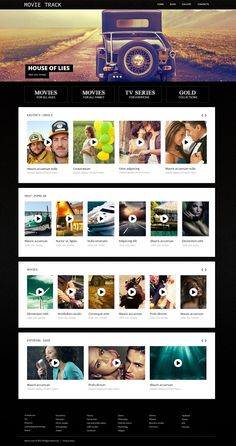 The site visitors will watch movies with great pleasure on a site with contemporary responsive design. Movies WordPress Theme will help you start or redesign the existing one to meet your requirements. Its textured black layout is softened with bright full width images in the slider, and white blocks pushing the content in the focus of attention look contrasting against it. Intuitive navigation forms pleasant user experience, so important for engaging people in.