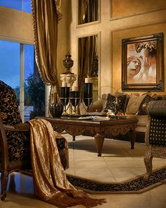 Living Room  ༺༻ Create an Exceptional Decorating Level with Beautiful #Bathroom, Living Rooms, #Pools, #Kitchens and more.  IrvineHomeBlog.com