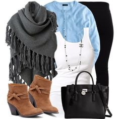 Poncho & Ankle Boots