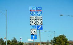 Schilder zur Route 66 © Julia Schafhauser