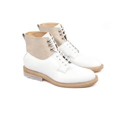 Heschung - Men spring summer collection - Lothier boots - Denvers white leather and translucent sole . #SS15 #exclusive #heschung